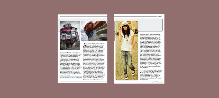 PR und journalistische Beiträge für Teaser Magazine