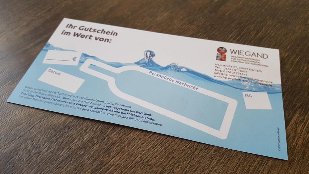Gestaltung Gutschein-Flyer