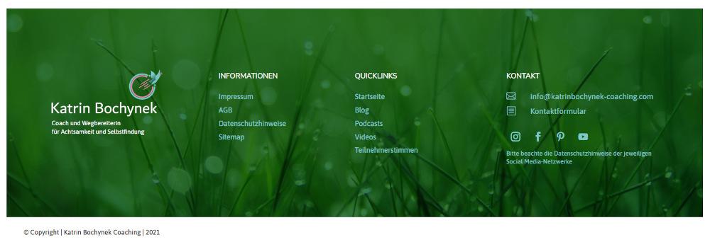 Responsive Webdesign Footer